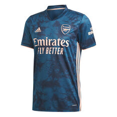 Arsenal FC 2020/21 Mens 3rd Jersey Blue S, Blue, rebel_hi-res