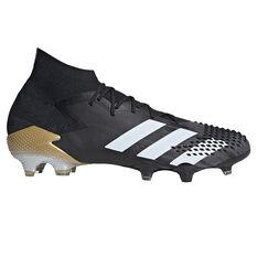 adidas Predator Mutator 20.1 Football Boots Black/White US Mens 6 / Womens 7, Black/White, rebel_hi-res