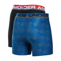 Under Armour Boys Original Series Boxerjock 2 Pack Blue / Black XS, Blue / Black, rebel_hi-res