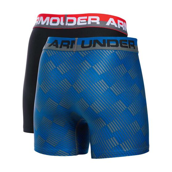 Under Armour Boys Original Series Boxerjock 2 Pack Blue / Black XS, Blue / Black, rebel_hi-res