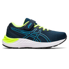 Asics Pre Excite 8 Kids Running Shoes Navy/White US 11, Navy/White, rebel_hi-res