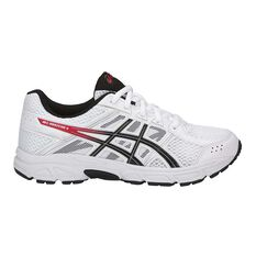 Asics GEL Contend 4 Boys Running Shoes White / Black US 1, White / Black, rebel_hi-res
