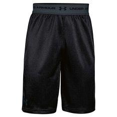 Under Armour Boys Tech Prototype 2 Shorts Black / Grey X Small Junior, Black / Grey, rebel_hi-res