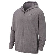 Nike Mens Dri-FIT Full Zip Training Hoodie Grey S, Grey, rebel_hi-res