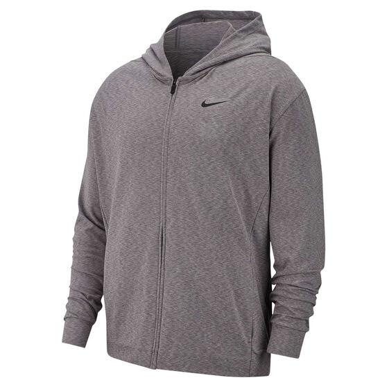 Nike Mens Dri-FIT Full Zip Training Hoodie, Grey, rebel_hi-res