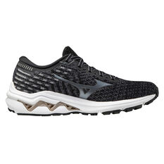 Mizuno Wave Inspire 17 Waveknit 17 Womens Running Shoes Black/Gold US 6, Black/Gold, rebel_hi-res
