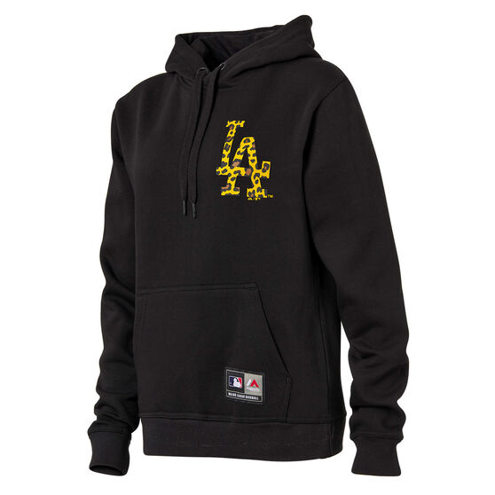 Majestic Womens LA Dodgers Animal Duke Hoodie, Black, rebel_hi-res