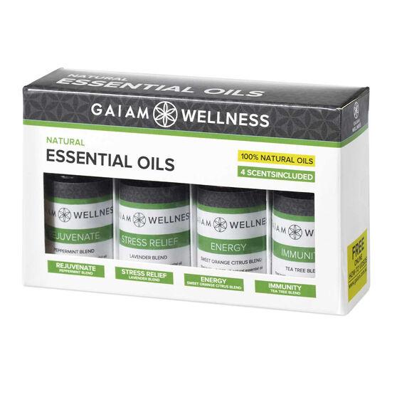 Gaiam Wellness Essential Oils 4 Pack, , rebel_hi-res
