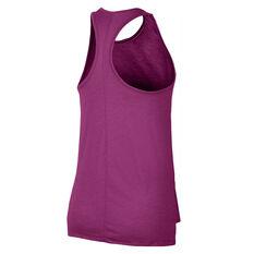 Nike Womens Yoga Tank Pink XS, Pink, rebel_hi-res
