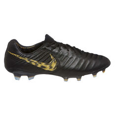 Nike Tiempo Legend VII Elite Mens Football Boots Black / Gold US Mens 7 / Womens 8.5, Black / Gold, rebel_hi-res