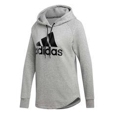 adidas Womens Must Haves Badge Of Sport Hoodie Grey XS, Grey, rebel_hi-res