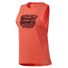 Reebok Womens CrossFit Games Crest Tank Red XS, Red, rebel_hi-res
