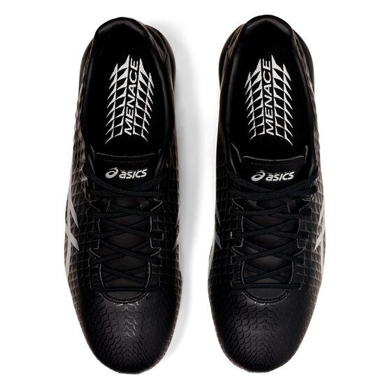 Asics Menace 4 Football Boots, Black/Silver, rebel_hi-res