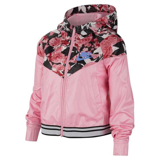 Nike Sportswear Girls Graphic Windrunner Jacket, Pink, rebel_hi-res