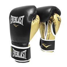 Everlast Powerlock Training Boxing Glove Black / Gold 12oz, , rebel_hi-res