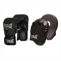 Everlast Tempo Bag Boxing Glove and Mitt Combo Black S / M, Black, rebel_hi-res