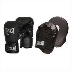 Everlast Tempo Bag Boxing Glove and Mitt Combo Black S / M, Black, rebel_hi-res