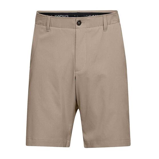 Under Armour Mens Showdown Golf Shorts, Khaki, rebel_hi-res