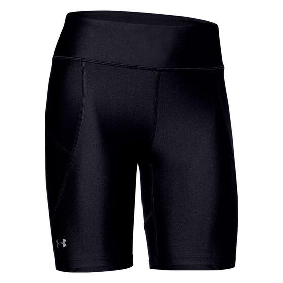 Under Armour Womens HeatGear Armour Bike Shorts, Black, rebel_hi-res