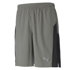 Puma Mens Session 9in Training Shorts Grey S, Grey, rebel_hi-res
