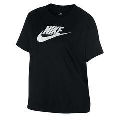 Nike Womens Sportswear Essential Futura Tee Plus Black XL, Black, rebel_hi-res
