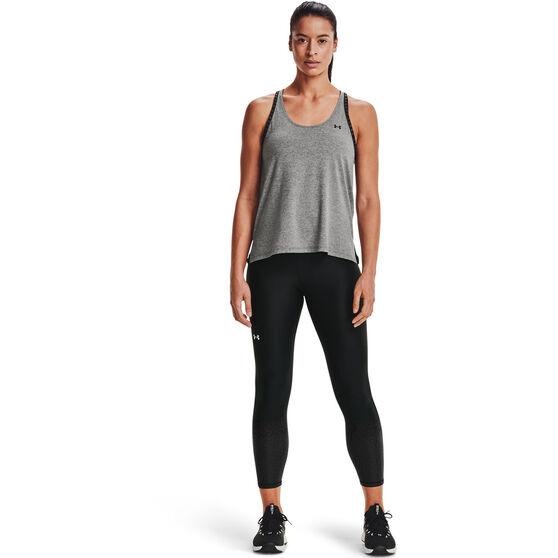 Under Armour Womens HeatGear No-Slip Waistband Gradient Ankle Tights, Black, rebel_hi-res