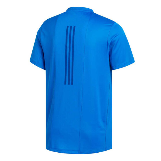 adidas Mens 3-Stripes HEAT.RDY Training Tee Blue M, Blue, rebel_hi-res