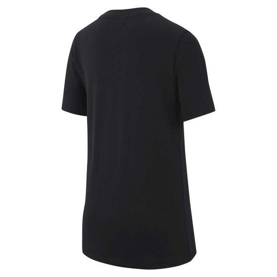 Nike Boys Sportswear Swoosh Tee Black S, Black, rebel_hi-res