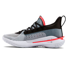Under Armour Curry 7 Kids Basketball Shoes White / Black US 4, White / Black, rebel_hi-res
