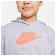 Nike Air Girls NSW FT Crop Hoodie, Purple, rebel_hi-res