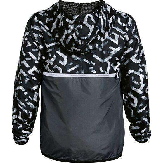 Under Armour Boys Sackpack Half Zip Jacket, Black / White, rebel_hi-res