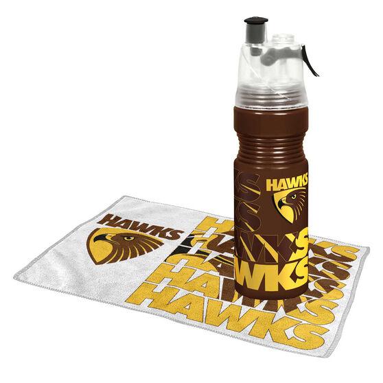Hawthorn Hawks Water Bottle and Gym Towel Pack, , rebel_hi-res