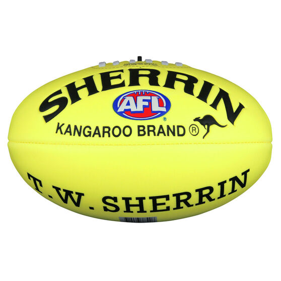 Sherrin Super Soft Touch Junior Australian Rules Ball Yellow 8in, , rebel_hi-res