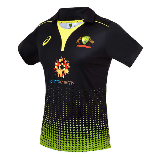 Cricket Australia 2019/20 Mens T20 Replica Shirt Black XL, Black, rebel_hi-res