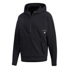 adidas Mens AEROREADY Full Zip Hoodie Black S, Black, rebel_hi-res