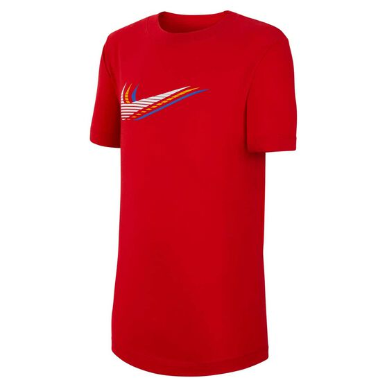 Nike Boys Sportswear Triple Swoosh Tee, Red, rebel_hi-res