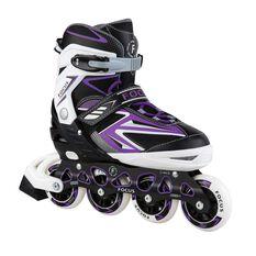 Blade X Focus Adjustable Skates Purple S, Purple, rebel_hi-res