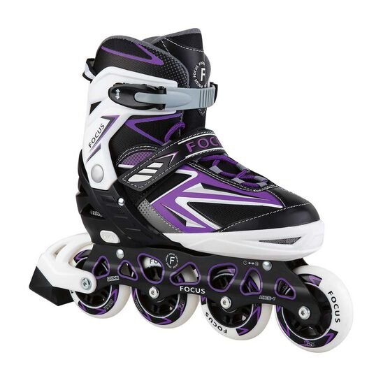 Blade X Focus Adjustable Skates Purple S, Purple, rebel_hi-res
