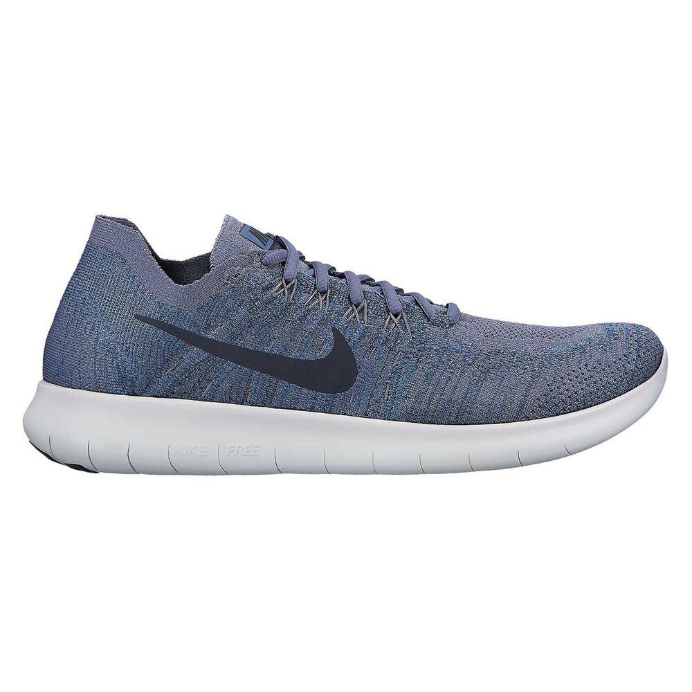 017d9845e91e Nike Free Run Flyknit 2017 Mens Running Shoes Blue   White US 10.5 ...