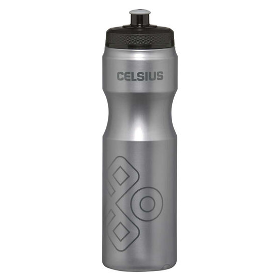 Celsius Squeeze 800ml Water Bottle Silver, Silver, rebel_hi-res