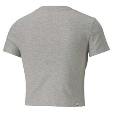 Puma Womens Essential Fitted Tee Grey XS, Grey, rebel_hi-res
