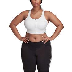 adidas Womens Ultimate Sports Bra Plus, White, rebel_hi-res