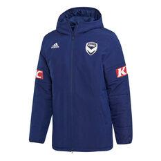 Melbourne Victory FC 2019/20 Mens Stadium Jacket Navy S, Navy, rebel_hi-res