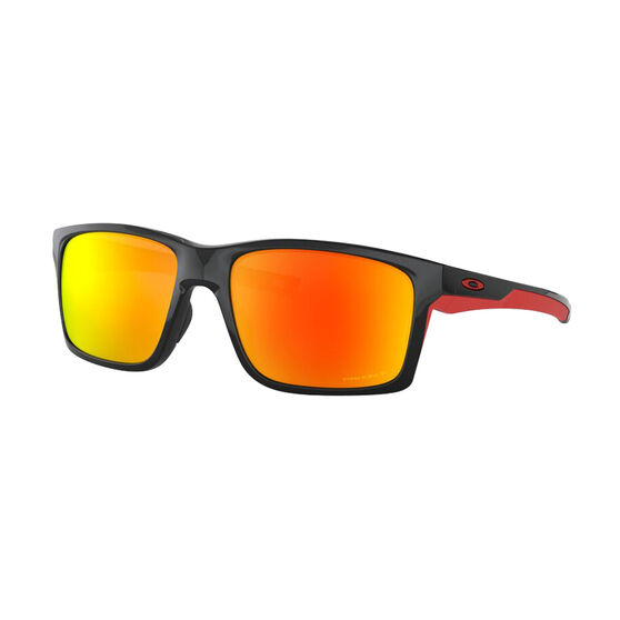 OAKLEY Main link XL Sunglasses - Polished Black with PRIZM Ruby Polarized, , rebel_hi-res