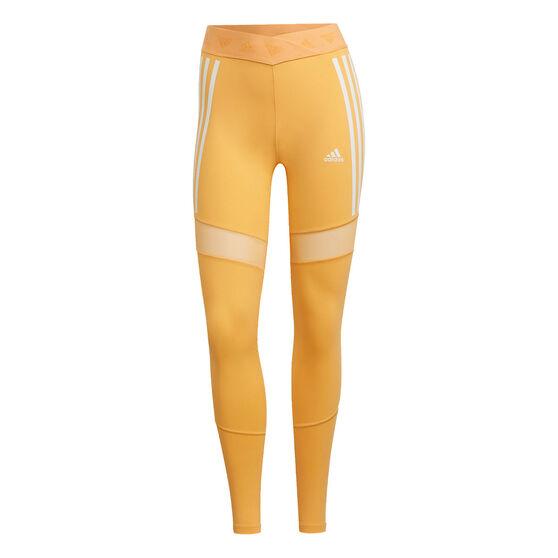 adidas Womens Mesh Training Tights, Orange, rebel_hi-res