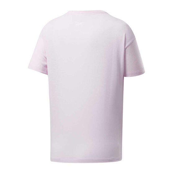 Reebok Womens Workout Ready Big Logo Tee, Pink, rebel_hi-res