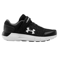 Under Armour Rogue 2 Kids Running Shoes Black/White US 11, Black/White, rebel_hi-res