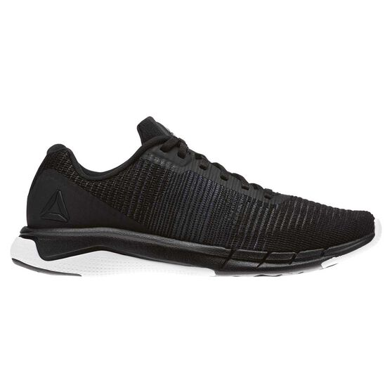 07dc5f6d96d2 Reebok Fast Flexweave Mens Running Shoes Black   White US 7
