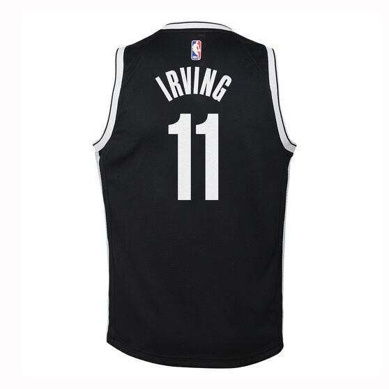 Nike Brooklyn Nets Kyrie Irving 2019/20  Kids Icon Edition Swingman Jersey, Black / White, rebel_hi-res