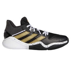 adidas Harden Stepback Mens Basketball Shoes Black/Gold US 7, Black/Gold, rebel_hi-res